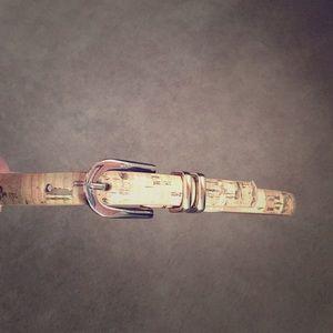 Banana Republic synthetic leather cork belt.